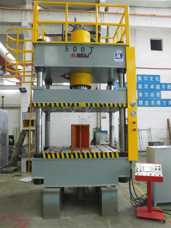 2016-7-5 由来:  四柱液压机是一种利用油泵输送液压油的静压力来